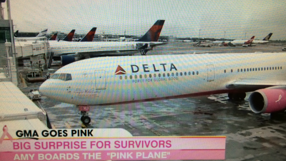 Delta Airlines - Pink Plane - Click To Watch Good Morning America